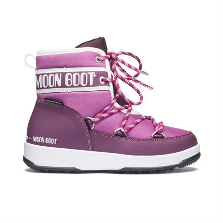 BORDO Kız Çocuk Kar Botu 34051200-003 MOON BOOT WE JR MID WP ROYAL ORCHID - BORDEAUX