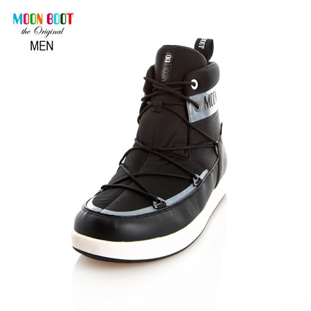 GRİ Erkek Kar Botu 14300900-002 MOON BOOT NEIL WP  GREY-BLACK-WHITE