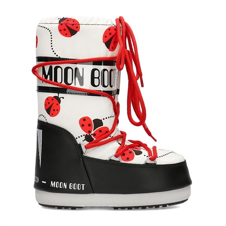 Kız Çocuk Kar Botu 34002000 001 MOON BOOT JR GIRL LADYBUG BLACK-WHITE-RED 31-34