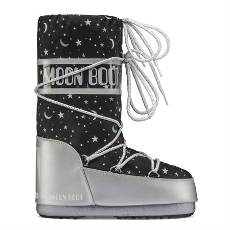 Kadın Kar Botu 34002100 001 MOON BOOT JR GIRL UNIVERSE SILVER-BLACK