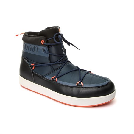 MAVİ Erkek Kar Botu 14300900-001 MOON BOOT NEIL WP  DARK BLUE-BLACK-ORANGE