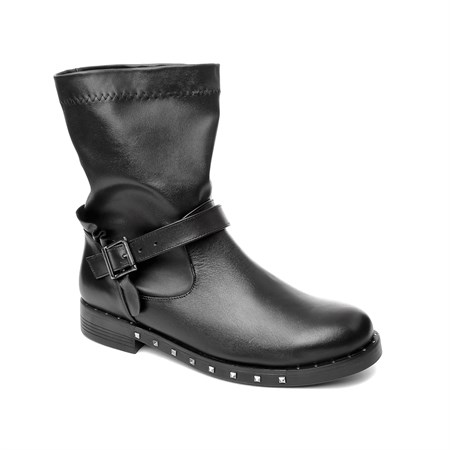 SİYAH Kadın Bot MS- 1027-15 JOHN MAY LEATHER BLACK