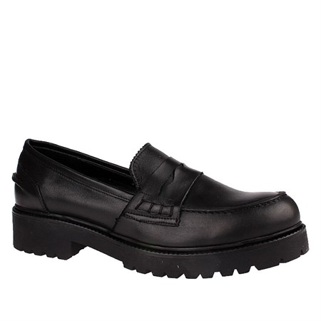 SİYAH Kadın Loafer IK-5040 LEATHER JOHN MAY BLACK
