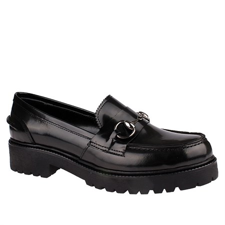 SİYAH Kadın Loafer IK-5046 SHINY LEATHER JOHN MAY BLACK